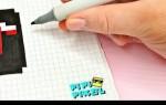 Как рисовать Тик Ток карандашом по клеточкам — поэтапная инструкция