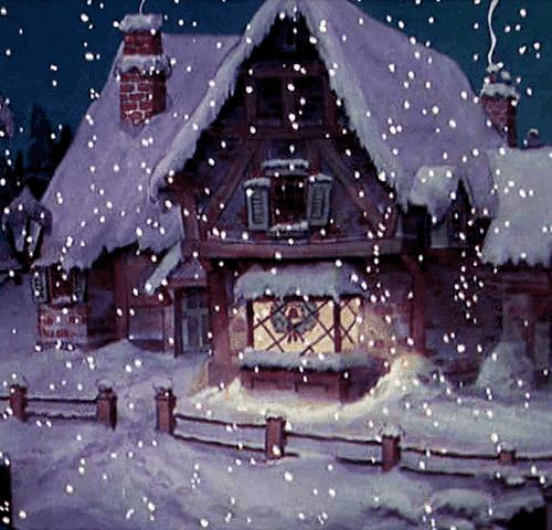 Гифка Снег
