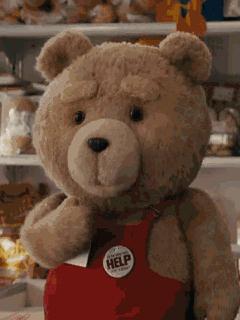 гифка Тедди до сих пор не теряет свою популярность