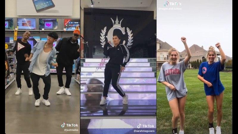 тренды tik tok с танцами